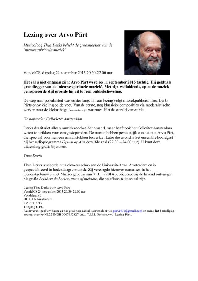 Persbericht lezing 24-11